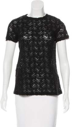Band Of Outsiders Knit Short Sleeve Top