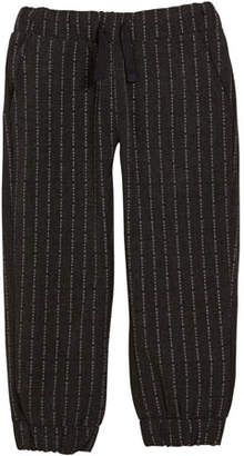 Andy & Evan Letter Striped Jogger Pants, Size 2-7