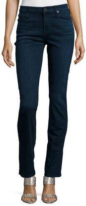7 For All Mankind Kimmie Straight-Leg Jeans, Slim Illusion Luxe $198 thestylecure.com