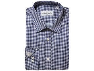 Robert Graham Diamond Two-Tone Dress Shirt Men's Clothing