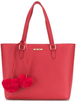 Love Moschino hearts embellished tote bag