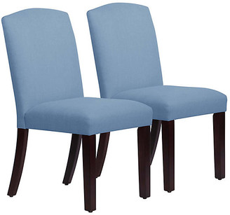 One Kings Lane Set of 2 Marie Side Chairs - French Blue Linen