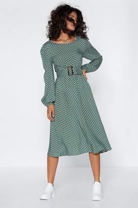 Nasty Gal We've Belt With It Polka Dot Dress