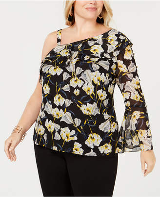 INC International Concepts I.N.C. Plus Size One-Shoulder Top, Created for Macy's