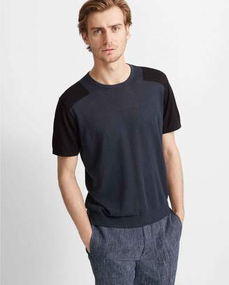 Club Monaco Short-Sleeve Blocked Crew