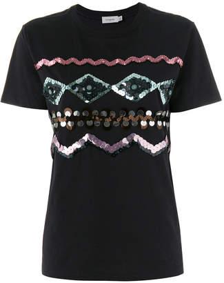 Coach Zigzag embellished T-shirt