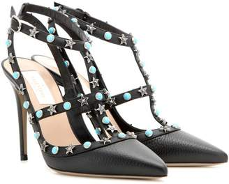 Valentino Starstudded leather pumps