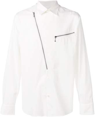 Givenchy asymmetrical zipped plastron shirt