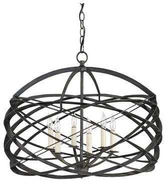 Currey and Company 9729 Horatio 6 Light Chandelier