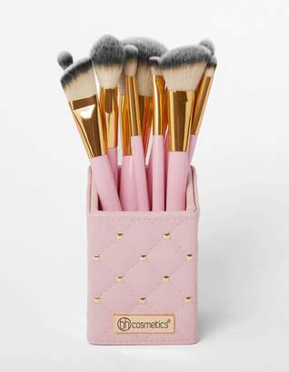 Bh Cosmetics 12 Piece Pink Studded Brushes & Brush Holder
