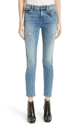 Women's The Kooples Blue Billy Crop Skinny Jeans $220 thestylecure.com