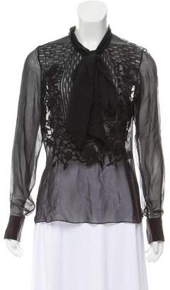 Prabal Gurung Embellished Silk Blouse