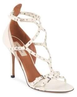 Valentino Grommet Leather Stiletto Sandals