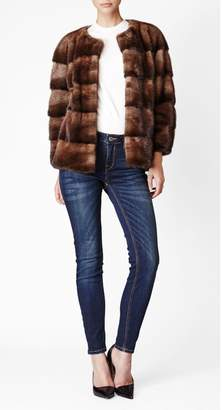Bos. & Co. Lilly E Violetta Sarah Mink Fur Jacket Bosco