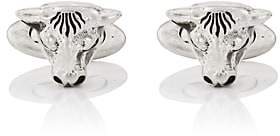 Gucci Men's Anger Forest Bull-Head Cufflinks - Silver