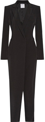 DKNY - Ribbed-knit Paneled Stretch-crepe Jumpsuit - Black $800 thestylecure.com