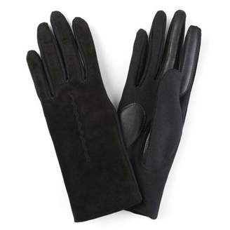 Brinley Co. Womens Lined Fashion Leather Suede Touchscreen Driving Gloves