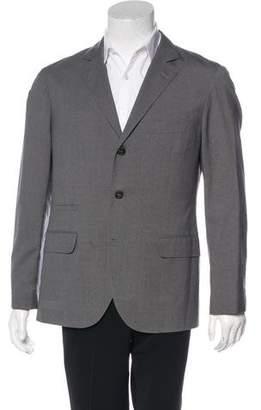 Brunello Cucinelli Wool & Silk Deconstructed Blazer