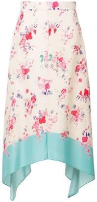 Vilshenko asymmetric floral skirt