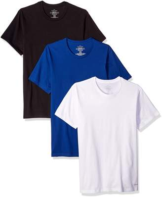 Calvin Klein Men's Standard Undershirts, 3 Pack Cotton Short Sleeve Crew Neck T-Shirt
