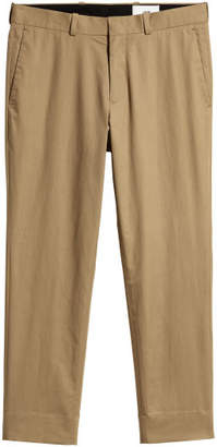 H&M Cropped Cotton-blend Chinos - Beige
