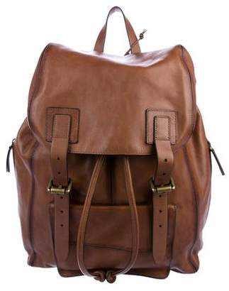 John Varvatos Leather Rucksack Backpack
