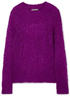 Helmut Lang Open-knit Mohair-blend Sweater - Violet
