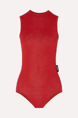 Vetements Open-back Lurex Bodysuit - Red