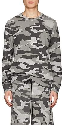 Barneys New York Men's Camouflage Terry Sweatshirt