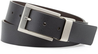Robert Graham Posner Reversible Faux-Leather Belt, Black/Brown $24 thestylecure.com