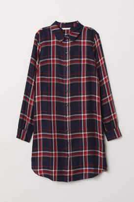 H&M Checked Shirt Dress - Blue