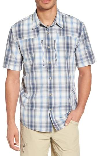 Buy M's Sun Plaid Stretch Hybrid Shirt!