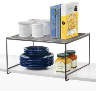 Lynk Kitchen Cabinet, Pantry and Closet Shelf Organizer - Extra Shelf - Platinum