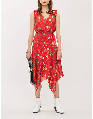 The Kooples Floral-print crepe de chine dress