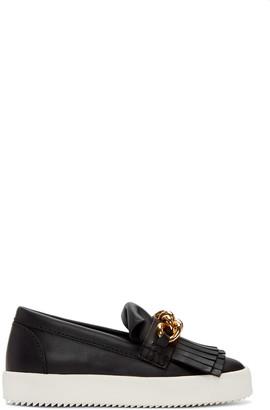 Giuseppe Zanotti Black May London Fringed Sneakers $650 thestylecure.com