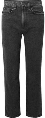 Rag & Bone Cropped High-rise Straight-leg Jeans - Black