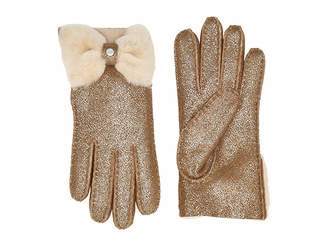 UGG Bow Shorty Water Resistant Sheepskin Gloves