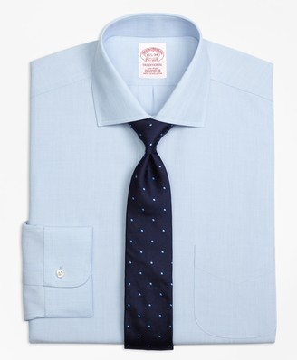 Brooks Brothers Traditional Relaxed-Fit Dress Shirt, Non-Iron Spread Collar