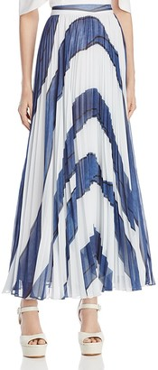 Alice + Olivia Shannon Pleated Maxi Skirt $485 thestylecure.com