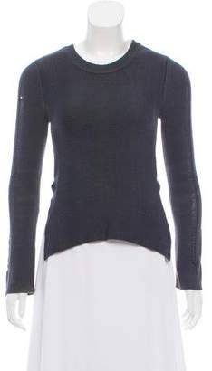 Theyskens' Theory Rib Knit Scoop Neck Sweater