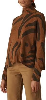 Whistles Animal Stripe Merino Wool Sweater