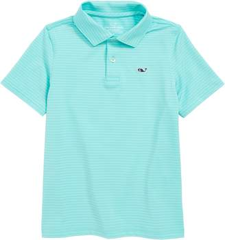 Vineyard Vines Wilson Stripe Sankaty Performance Polo