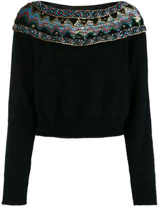Alberta Ferretti sequins embellished sweater