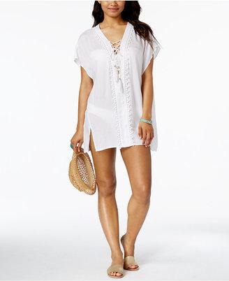 Raviya Lace-Up Tunic $48 thestylecure.com