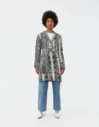 Veda Ann Denim Printed Coat