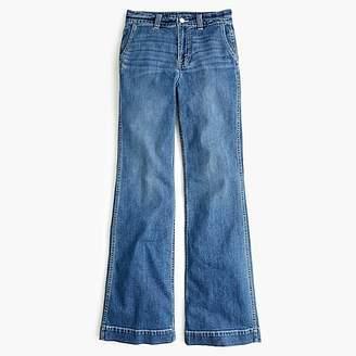 J.Crew Wide-leg trouser jean in light Lagoon wash