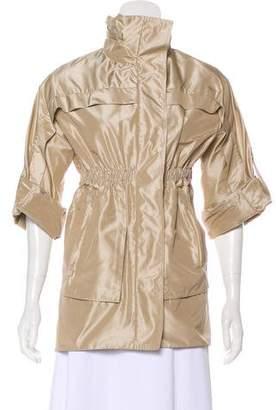 Lela Rose Short Sleeve Silk Jacket