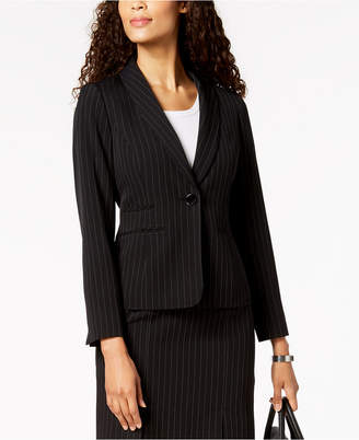 Kasper One-Button Pinstriped Jacket