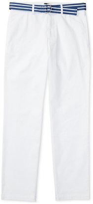 Ralph Lauren Striped Belt and Twill Pants, Big Boys (8-20) $49.50 thestylecure.com