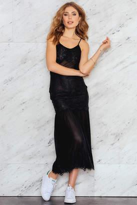 NA-KD Na Kd Lace Chiffon Dress